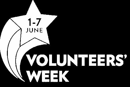 Volunteers' Week Logo White